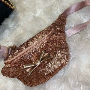 Disney rose gold sequined fanny pack